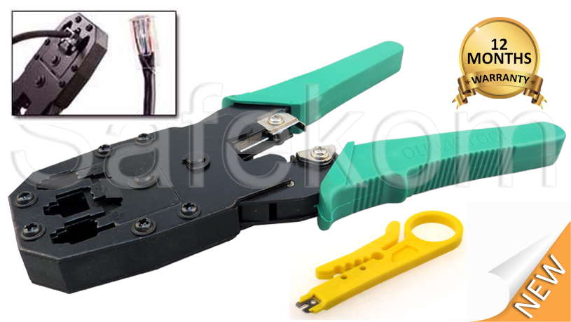 network rj45 cat5e cat6e internet cable crimper stripper cutter punch down tool ebay. Black Bedroom Furniture Sets. Home Design Ideas