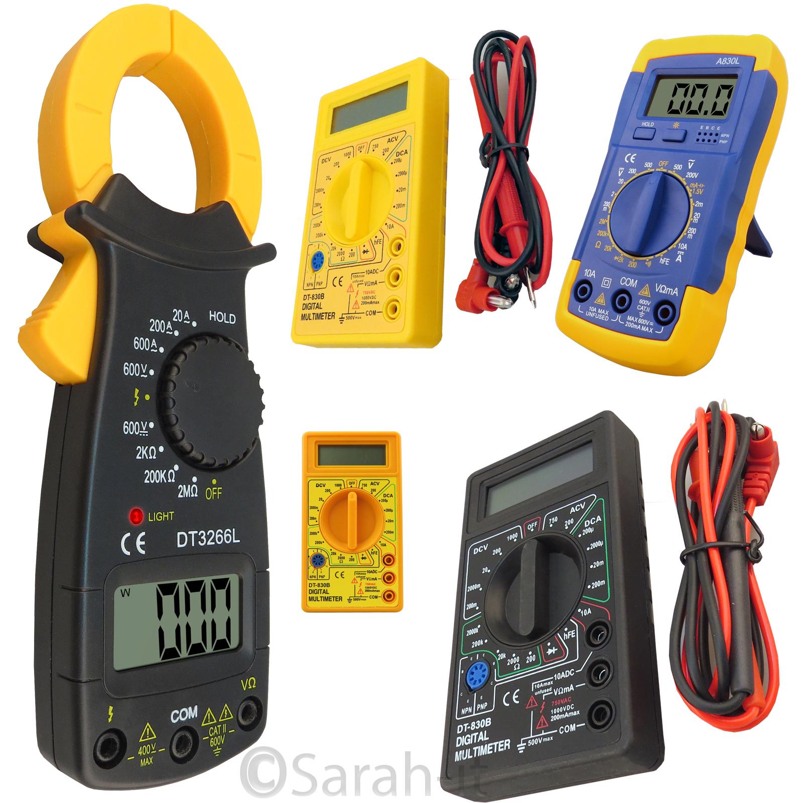Ac Circuit Testers : Digital lcd multimeter ohm voltmeter ac dc circuit tester