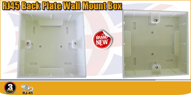 CAT6E CAT5 RJ45 Back Plate Wall Mount Box for Ethernet Wall Socket Network Cable