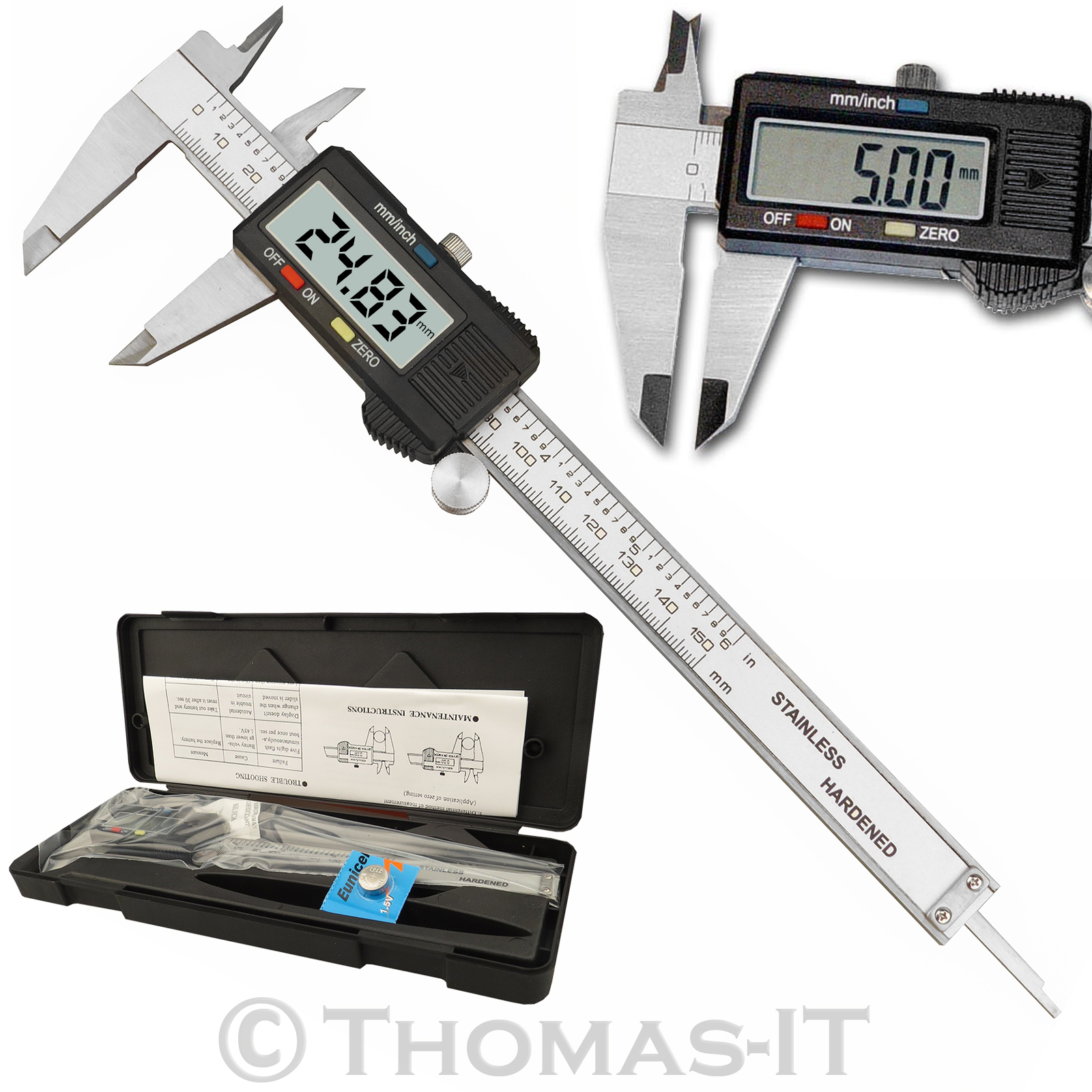 the caliper and micrometer Physics 3a : measurement / error analysis_____3 to use the micrometer caliper, an object must be placed between the screw and the.